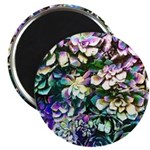 Colorful Abstract Plants Magnets