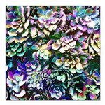 Colorful Abstract Plants Square Car Magnet 3