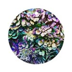 Colorful Abstract Plants Round Ornament