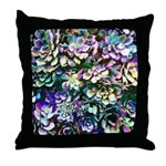 Colorful Abstract Plants Throw Pillow