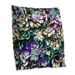 Colorful Abstract Plants Burlap Throw Pillow