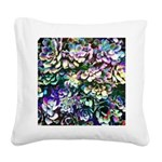 Colorful Abstract Plants Square Canvas Pillow