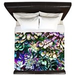 Colorful Abstract Plants King Duvet