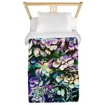Colorful Abstract Plants Twin Duvet