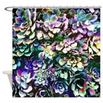 Colorful Abstract Plants Shower Curtain