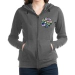 Colorful Abstract Plants Women's Zip Hoodie
