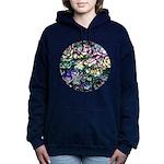 Colorful Abstract Plants Women's Hooded Sweatshirt