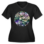 Colorful Abstract Plants Plus Size T-Shirt