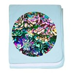Colorful Abstract Plants baby blanket