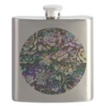 Colorful Abstract Plants Flask