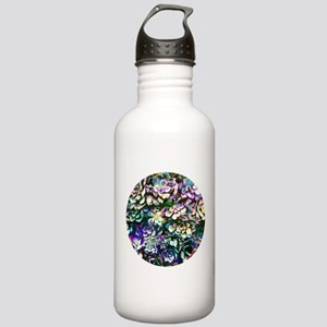 Colorful Abstract Plants Water Bottle