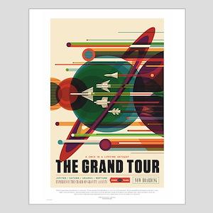 Grand Tour - Retro Space Travel Small Poster