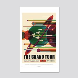 Grand Tour - Retro Space Travel 20x12 Wall Decal