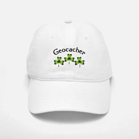 Geocacher 3 Shamrocks Baseball Baseball Cap