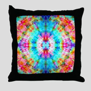 Rainbow Sunburst Throw Pillow