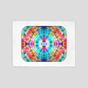 Rainbow Sunburst 5'x7'Area Rug