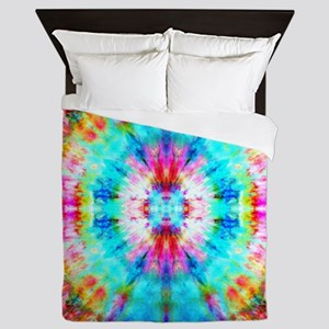Rainbow Sunburst Queen Duvet