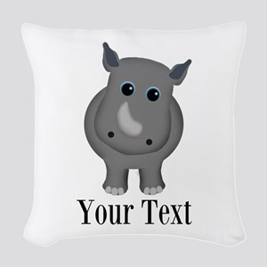 Rhino Baby Woven Throw Pillow