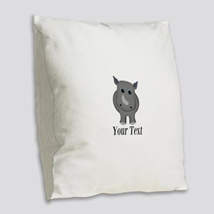 Rhino Baby Burlap Throw Pillow