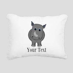 Rhino Baby Rectangular Canvas Pillow