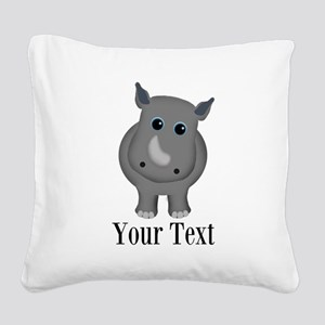 Rhino Baby Square Canvas Pillow