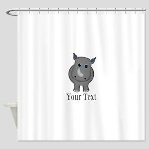 Rhino Baby Shower Curtain