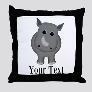 Rhino Baby Throw Pillow