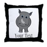 Rhino Baby Throw Pillow