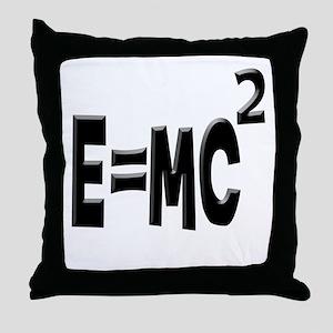 E=MC2 (black) Throw Pillow