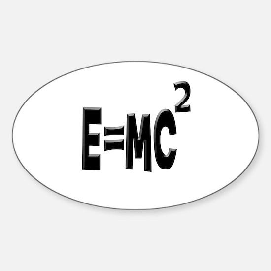 E=MC2 (black) Oval Decal