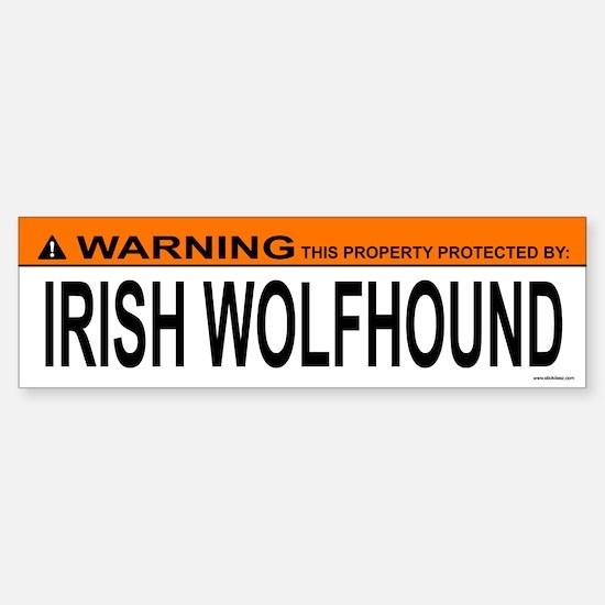 IRISH WOLFHOUND Bumper Bumper Bumper Sticker
