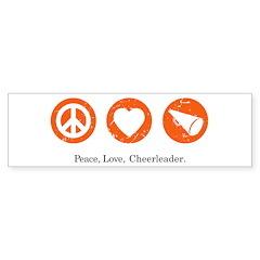 PEACE. LOVE. CHEERLEADING. Bumper Bumper Sticker