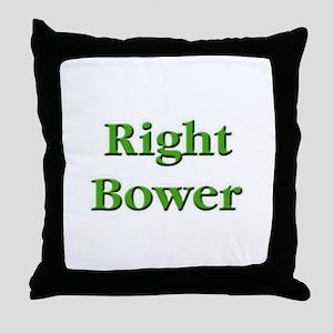 Right Bower Euchre Throw Pillow