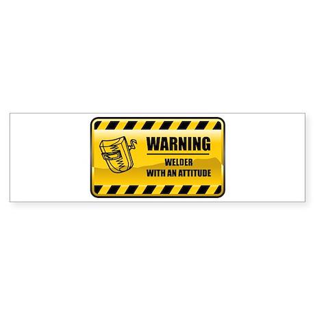 Warning Welder Bumper Sticker