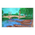Dreyfus Bridhe, City Park Rectangle Sticker