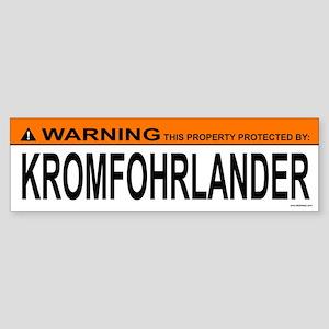 KROMFOHRLANDER Bumper Sticker