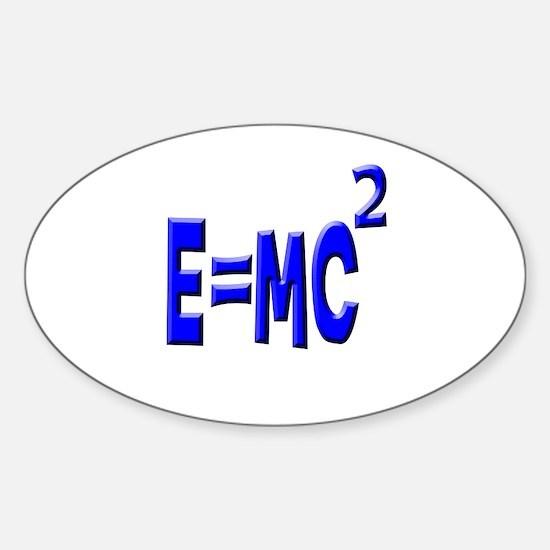 E=MC2 (blue) Oval Decal