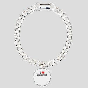 I Love MCKENZIE Charm Bracelet, One Charm