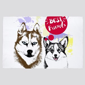 Best friends....dogs 4' x 6' Rug