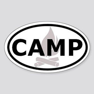 Camp Oval Sticker Oval Sticker