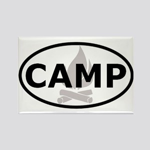 Camp Oval Sticker Rectangle Magnet