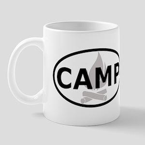Camp Oval Sticker Mug