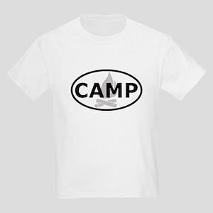 Camp Oval Sticker Kids Light T-Shirt