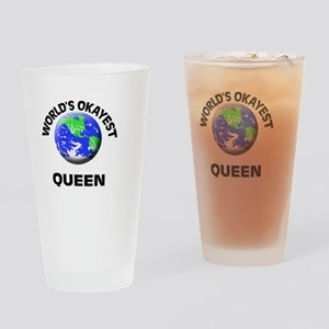 World's Okayest Queen Drinking Glass