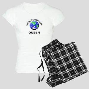 World's Okayest Queen Women's Light Pajamas