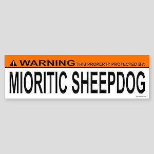 MIORITIC SHEEPDOG Bumper Sticker