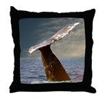 WILD SIDE WHALE Throw Pillow