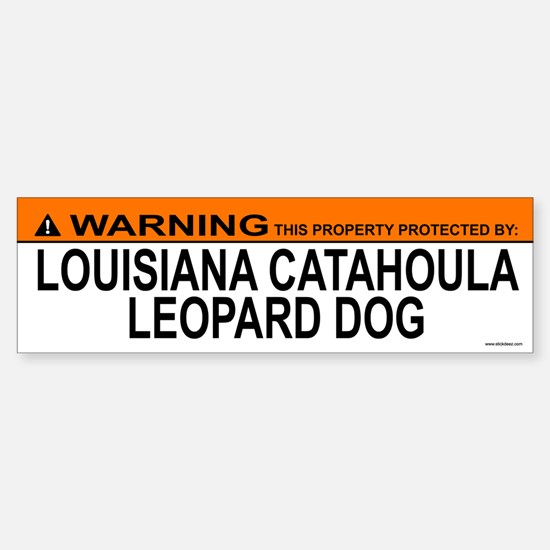 LOUISIANA CATAHOULA LEOPARD DOG Bumper Bumper Bumper Sticker