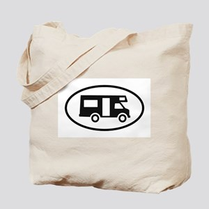 RV Oval Sticker Tote Bag