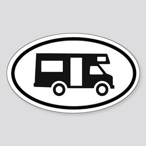 RV Oval Sticker Oval Sticker